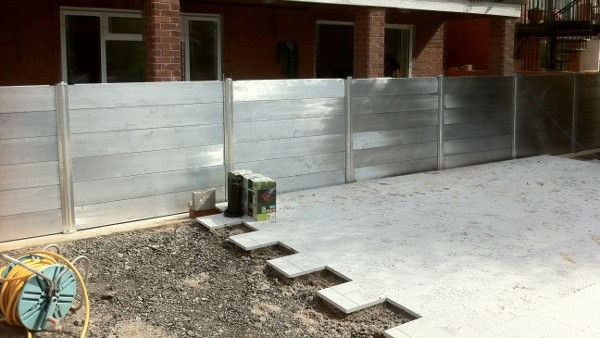 Installation of Flood Defences in Residential Area